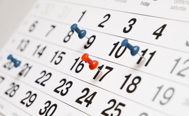 Cambios en los calendarios de precisión y plato