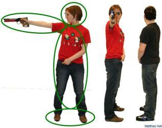 posicion postura tiro pistola