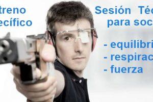 Inicio sesiones de entreno específico