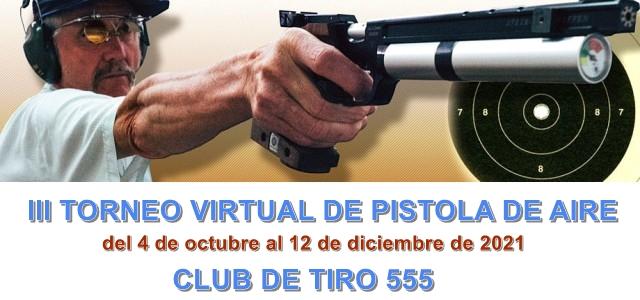 III Torneo virtual pistola de aire 10m.